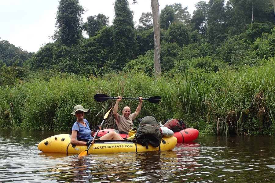 Packrafting in Gabon