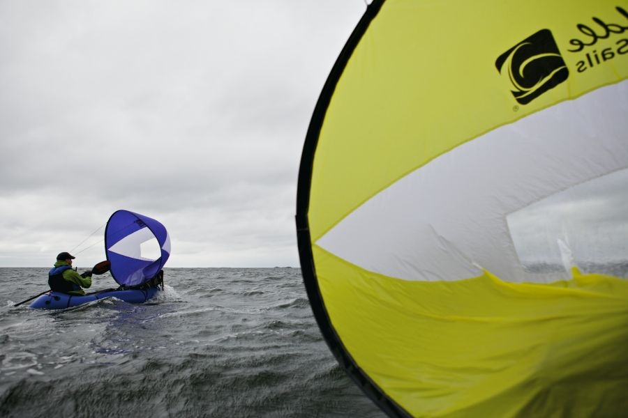 Anfibio Packrafting Sail (by WindPaddle)