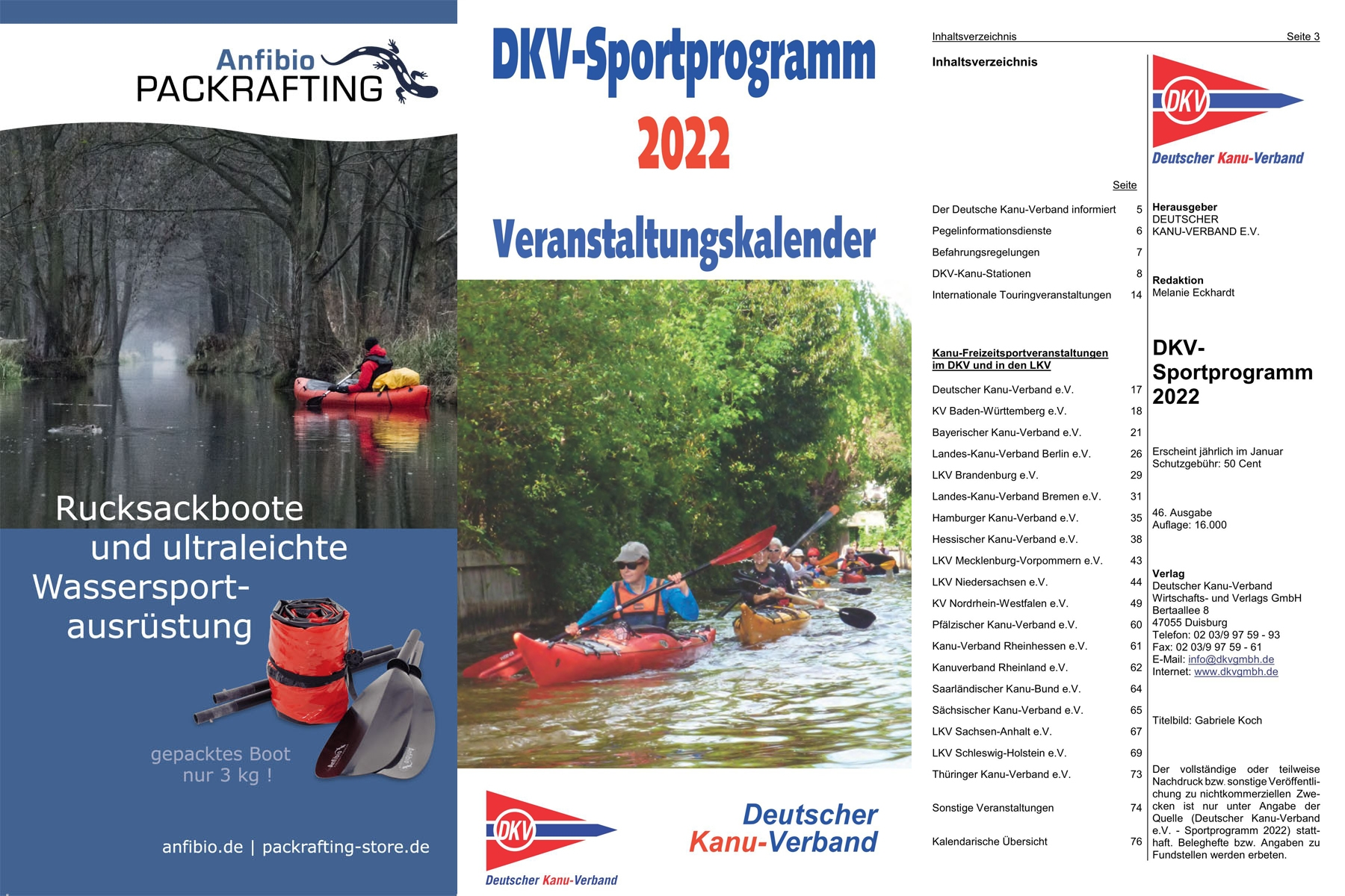 DKV sports program 2019 (German)