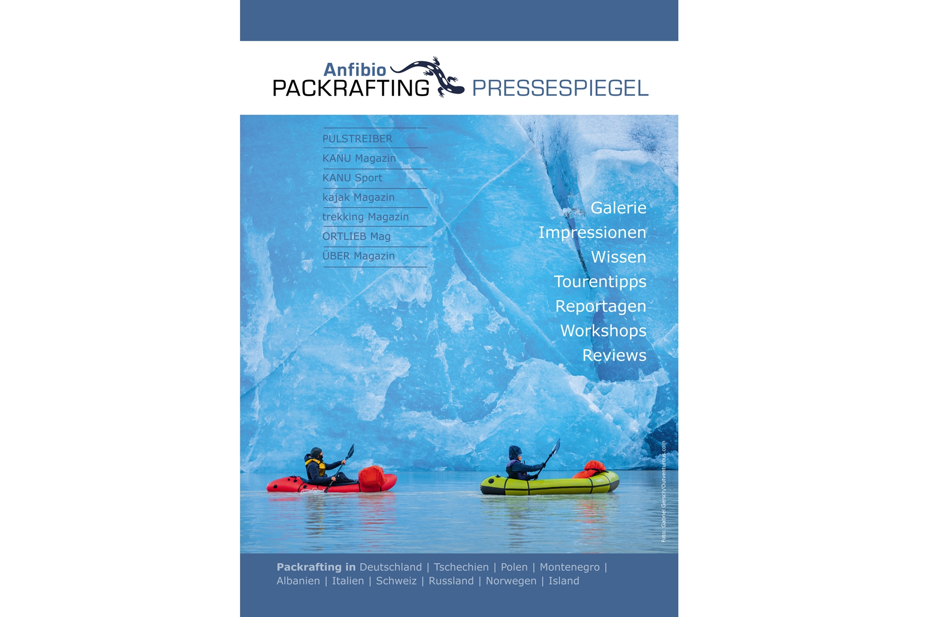 Anfibio Packrafting press cover (German)