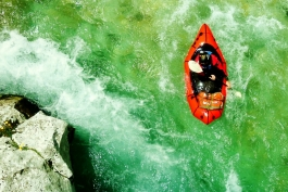 Packraft whitewater-technique courses 2016 at river Soča (Slovenia)