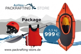 Packrafting (whitewater) package (Trekraft mit Verdeck, Anfibio Vertex, Hiko Buckaroo, Hiko Swift)